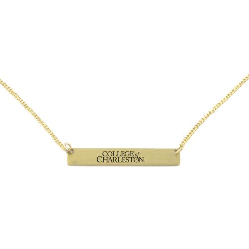 College of Charleston-Frankie Tyler Contemporary Bar Bracelet-Gold