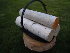 WHITE BIRCH LOG SET OF 3 LOGS FOR FIREPLACE HEARTH MANTLE DECOR RUSTIC CRAFTS