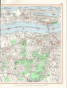 image is loading 1964 vintage london street map north woolwich charlton