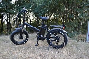 "20""Fat Tire 750W 48V 13AH Folding Electric Bike Beach Snow E Bicycle SK-20 Black"