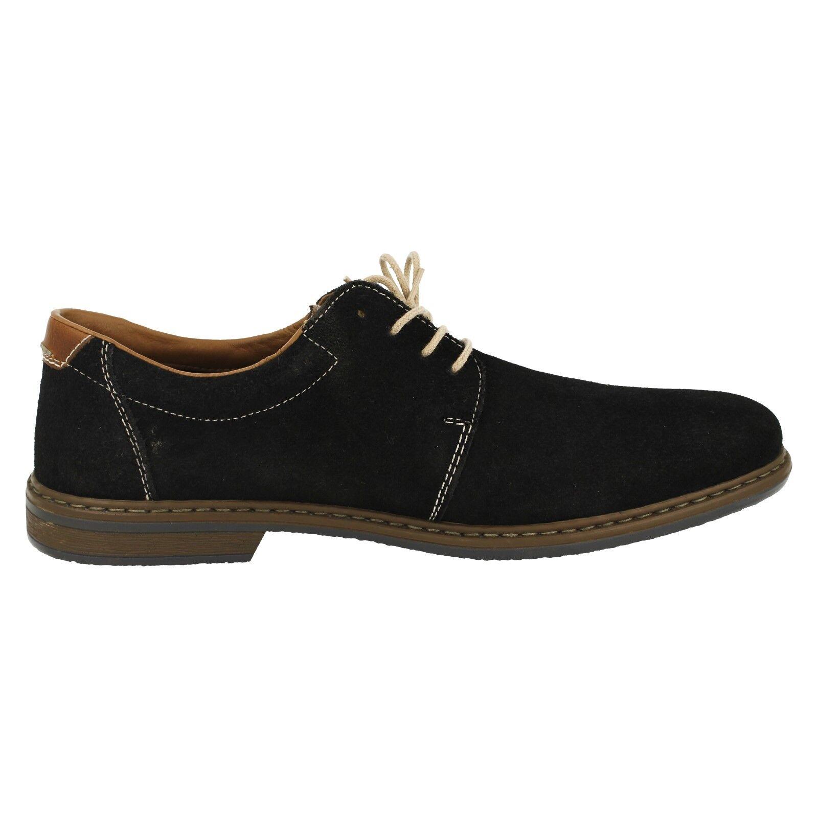 Uomo Rieker Schuhe 13410-16 blu camoscio con lacci in blu 13410-16 navy bb48e9