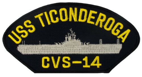 "Embroidered Patch 6/"" x 3/"" 92000 USS Ticonderoga CVS-14 E39"