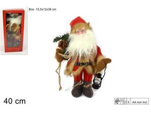 Babbo Natale 40 Cm.Babbo Natale Con Musica E Movimento Vestito H 40 Cm Decorazioni Natalizie Nuovo Ebay