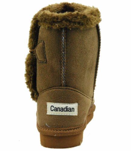 Little Girl Winter Fur JR Ankle Faux Shearling Warm Booties Mid Calf Dress Boots