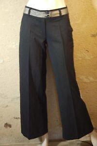 MORGAN-Taille-34-Superbe-pantalon-femme-noir-trousers-hose