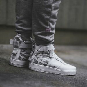 Details about Nike SF AF1 Mid Premium Urban Soldier (Size 12) White Camo AA1129 100