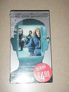 John-Cusak-034-BEING-JOHN-MALKOVICH-034-VHS-New-And-Sealed-In-Box