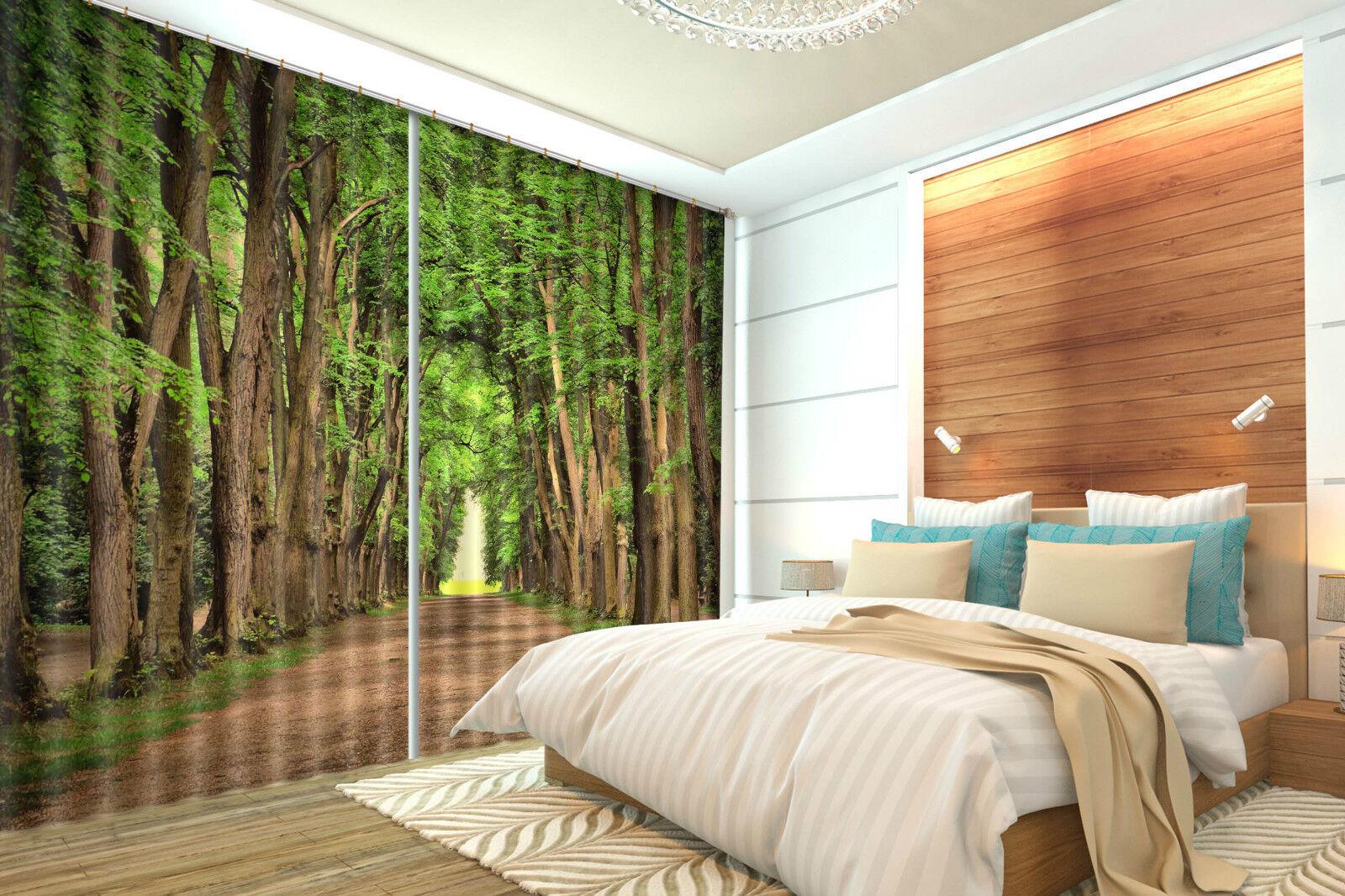 3d verde ALBERO 5353 blocco foto sipario pressione sipario tende tessuto finestra de