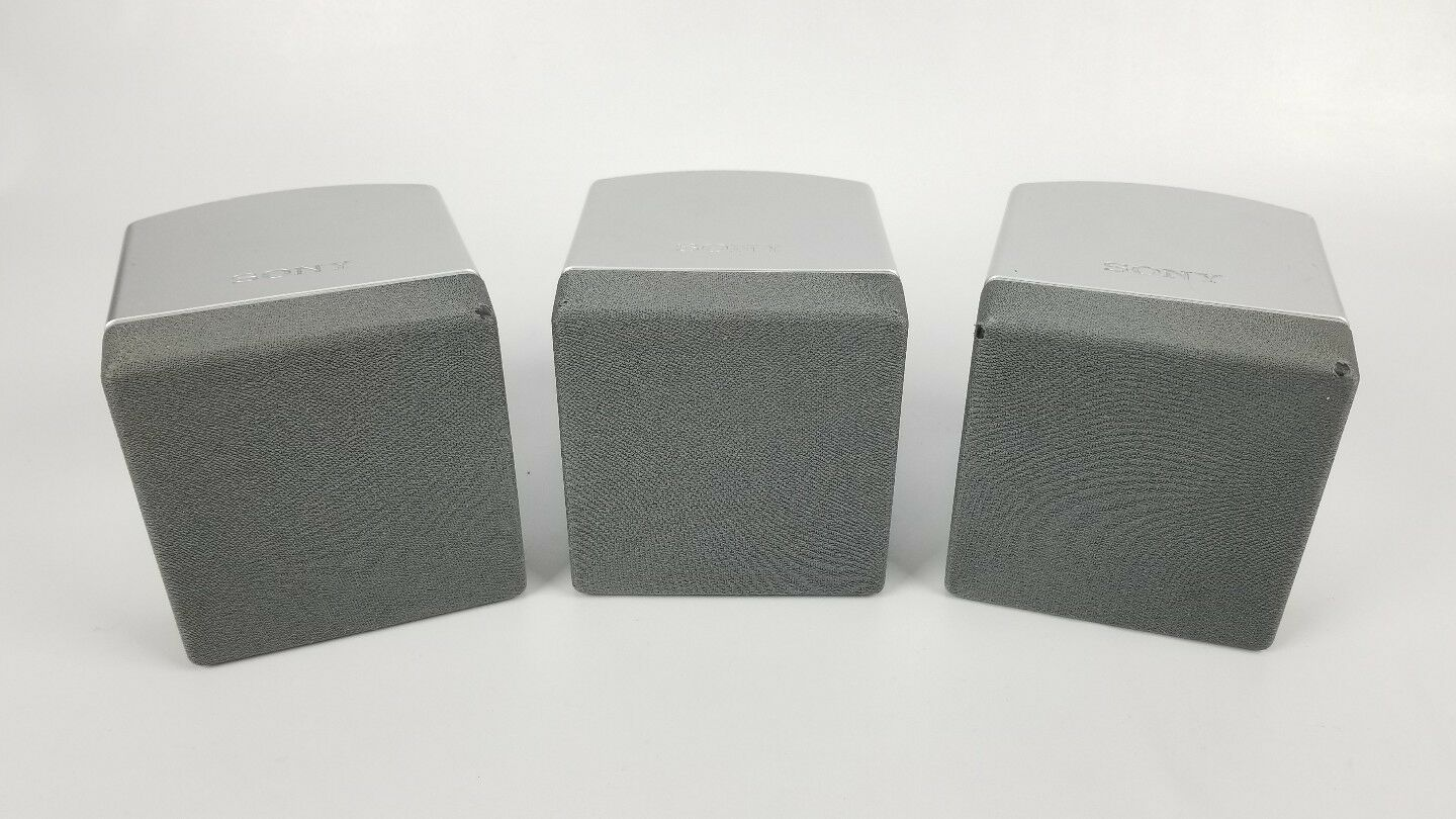 3 Pair Sony SS-TS10 Speakers With Cable Tested Great Working Condition