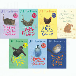 Jill-Tomlinson-Collection-7-Books-Set-The-Hen-Who-Wouldn-039-t-Give-Up-Gorilla-Cat