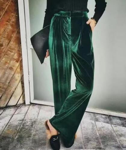velluto dritti vita formale alta Pantaloni in a Zsell donna casual da Pantaloni nHwAxRWR