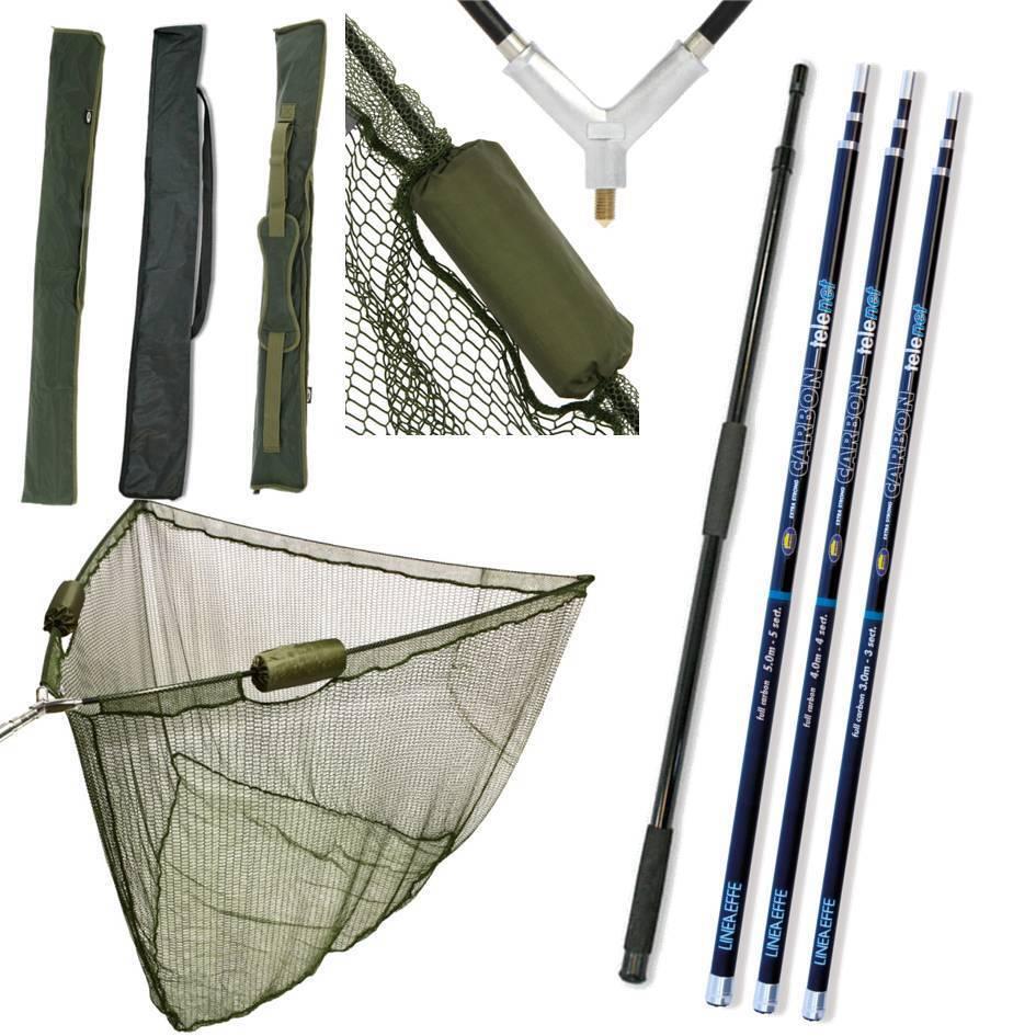 42  INCH CARP FISHING NGT LANDING NET 2M HANDLE STINK BAG 3M 4M 5M CARBON