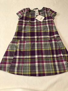 Nwt Janie & Jack Girls Size 3 City Museum Purple Plaid Wool Dress/jumper High Quality And Inexpensive Clothing, Shoes & Accessories Girls' Clothing (newborn-5t)