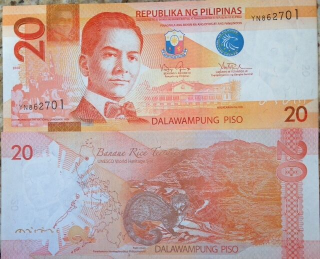 Philippines 2014 20 Piso Uncirculated Banknote P Buy From A For Sale Online Ebay