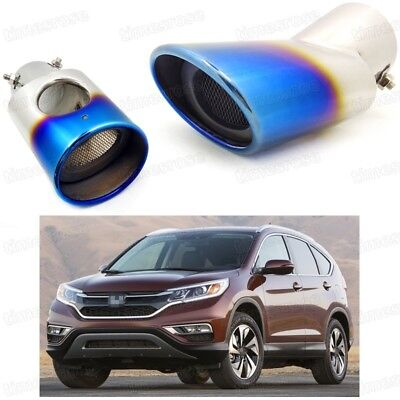 Stainless Rear Exhaust Muffler End Trim Tip Tail Pipe For Honda CRV 2012-2016