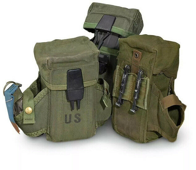 Army Marines US Military Surplus ALICE LC-2 Triple Rifle Mag Ammo Pouch