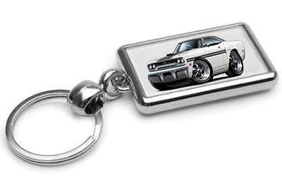 1970 Plymouth GTX Muscle Car-toon Key Chain Ring Fob NEW