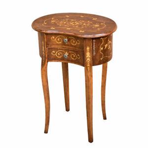 Tavolini Classici In Legno Da Salotto.Dettagli Su Tavolino Legno Con Intarsio Tavolino Classico Per Ingresso Soggiorno Salotto