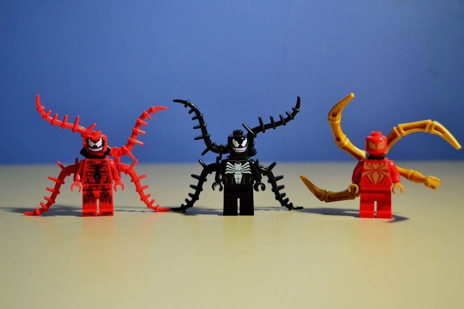 LEGO Marvel  Venom & Carnage Ultimate Spider-Man Minifigures 76004 76036 Lot x 3