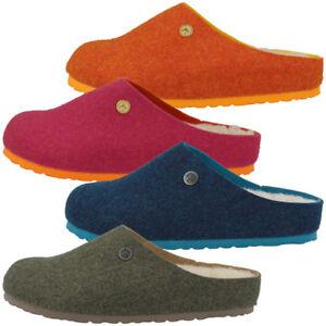 Birkenstock-Kaprun-Wollfilz-Clogs-Schuhe-Damen-Pantoletten-Hausschuhe-Sandalen