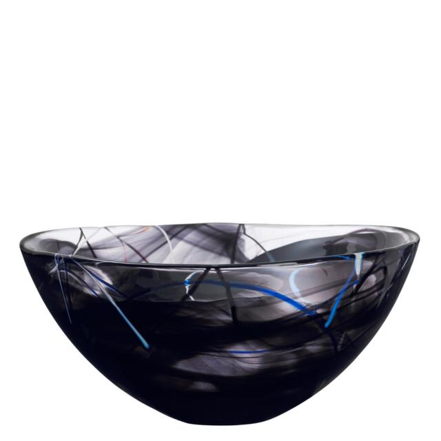 Kosta Boda Contrast Large Black Glass Bowl Ebay