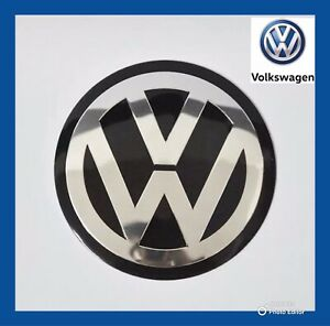 VW-VOLKSWAGEN-GENUINE-METAL-45MM-STEERING-WHEEL-BADGE-EMBLEM-GOLF-POLO-PASSAT