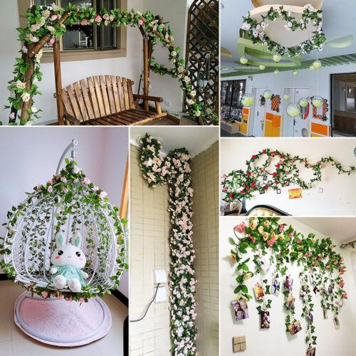 Kunstblume Seide Rosenblatt Girlande Rebe Efeu Hochzeit Simulation Blumendekor