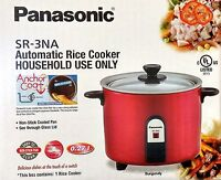 Panasonic SR-3NAR Automatic Rice Cooker (Burgundy)