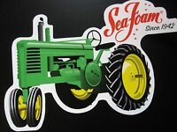 John Deere Tractor A B Vintage Sticker Decal Garage Shop Retro Advertising