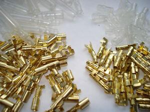 TELAIO-di-cablaggio-per-MOTO-in-ottone-3-9mm-Pallottola-Connettore-Terminale-Elettrico-Confezione-da