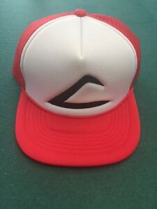 Retro POKEMON ASH KETCHUM Curved Bill Embroidered Hat Cap Pokemon GO ... b7d7fdbccaf0