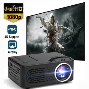 1080P HD Theater Projector Cinema LED LCD Home Mini Projector VGA HDMI Movie TV