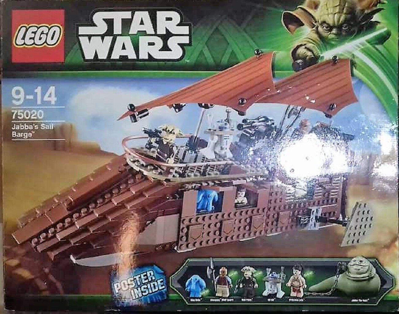 Lego 75020 STAR WARS Jabba´s Sail Barge OVP und Bauanleitung und 5 FIGUREN