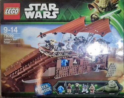Lego 75020 Star Wars Jabba/'s sail barge neuf dans sa boîte et de recette et 5 personnages