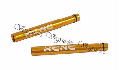 KCNC Valve Extenders Extension Presta 50mm 2pcs Gold