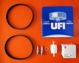 DUCATI-900SS-CARB-SERVICE-KIT-INC-DAYCO-BELTS-UFI-FILTERS-CHAMPION-PLUGS
