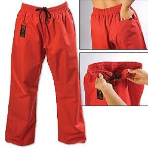 ProForce Gladiator 8 oz. Combat Karate Uniform Gi Pants Child Youth Adult - Red