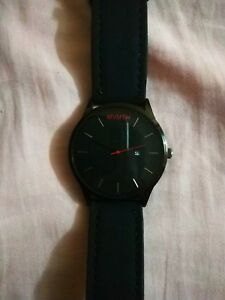 BLACK-MVMT-watch-with-Black-Leather-Men-039-s-Wrist-watch-FIRST-HIGH-COPY