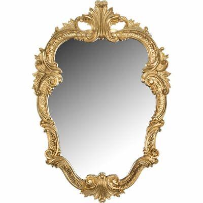 Friseur Wandspiegel Barock Gold Oval Vintage Badspiegel Antik 50x33 Rokoko Prunk