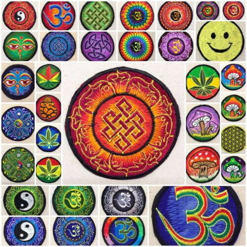 "Tibetan Knot Traditional Sew On Patch 3/""//7.5cms Buddhism Buddhist Sacred Hippy"