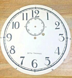 Old 11 1/2 Inch Hand Painted Seth Thomas Metal Clock Dial Pan (LL5012)