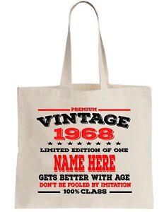 30th Birthday Gift Tote Bag Shopper Shopping Custom add Name of choice 1988