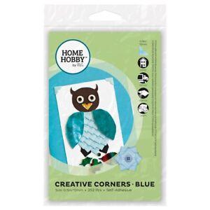 HomeHobby-Creative-Corners-Blue-252-Acid-Free-Photo-Corners-Blue