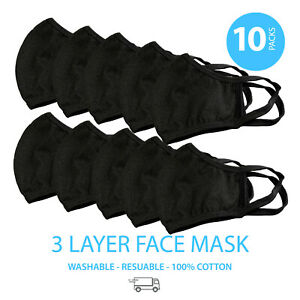 10-Pieces-Washable-Face-Masks-Large-Color-Black