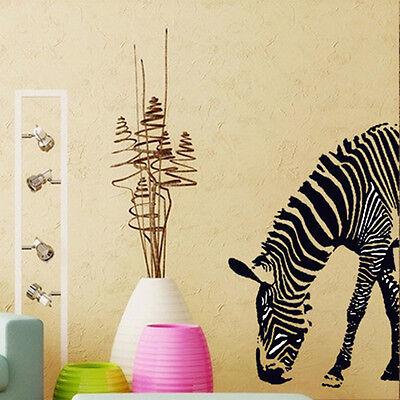 Removable Art PVC Zebra DIY Mural Wall Sticker Decal Mural Home Room Decor