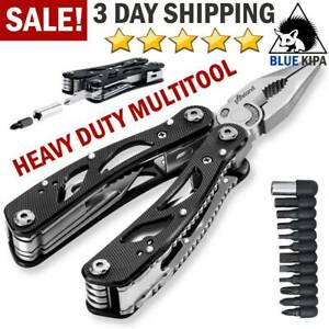 Tactical Multi Tool Knife Pliers Saw Folding Screwdriver Outdoor Emergency Kit