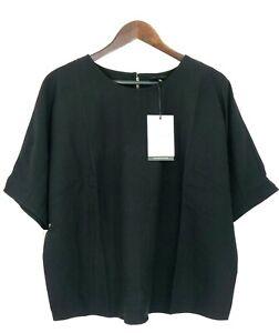 Who-What-Wear-Women-039-s-Plus-Size-X-Short-Sleeve-Scoop-Neck-Top-Blouse-Black