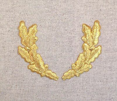 Scrambled Eggs BLACK Military Uniform Iron on Applique//Embroidered Patch