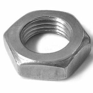 Hex-Jam-Half-Thin-Nuts-M4-M5-M6-M8-M10-M12-Stainless-Steel-A2-x-10