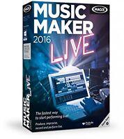 Magix Music Maker 2016 Live Pc Disc Program - - Computer Software